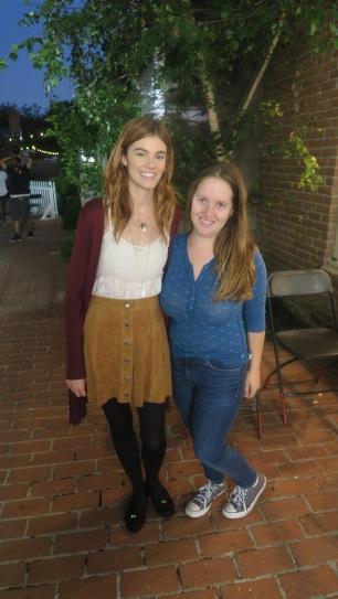 me with Rachel Melvin (Willa)